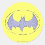 Sketchbook 1 de Batman Etiquetas Redondas