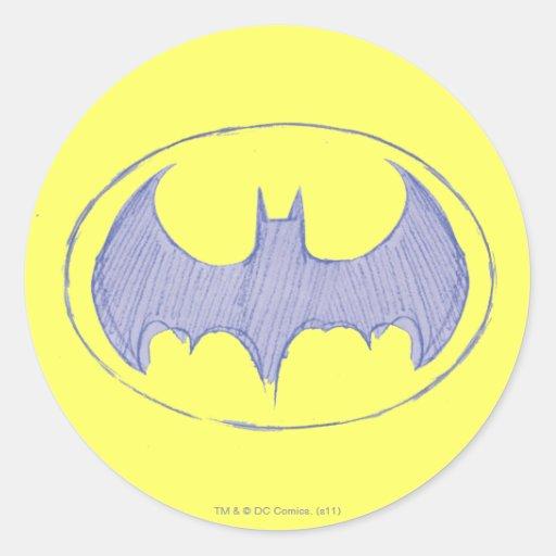 Sketchbook 1 de Batman Pegatina Redonda