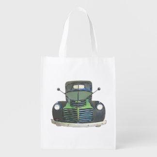 Sketched 1947 GMC Pickup Truck Shopping Bag Reusable Grocery Bag