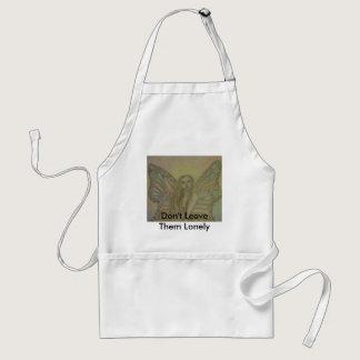 sketched angel art apron