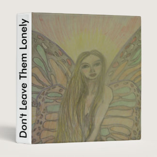 sketched angel art binder