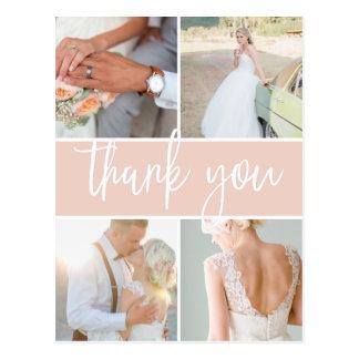 Sketched Blush | Wedding Photo Thank You Postcard