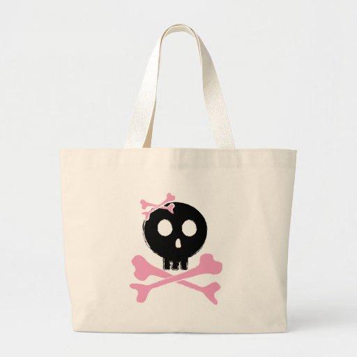 Sketched Candy Skull in Black Bag