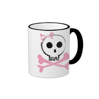 Sketched Candy Skull Ringer Mug