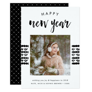 Sketched Cheer | Happy New Year Photo Card