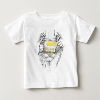 Sketched Chest Superman Logo Baby T-Shirt