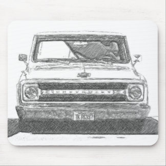 Sketched Chevy Truck Mouse Pad