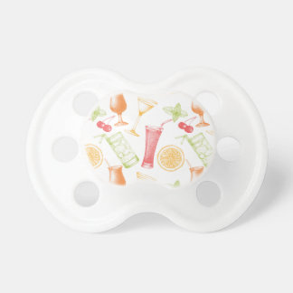 Sketched Cocktail Pattern Pacifier