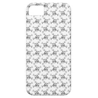 sketched crossbone skulls iphone case