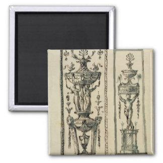 Sketched designs for ornate panels (pen & ink and magnet