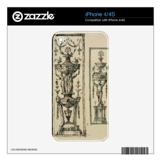 Sketched designs for ornate panels (pen & ink and iPhone 4S skins