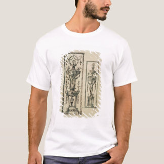 Sketched designs for ornate panels (pen & ink and T-Shirt