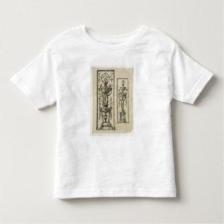 Sketched designs for ornate panels (pen & ink and toddler t-shirt