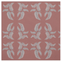 Sketched Feathers on Red Background, Mirrored. Fabric