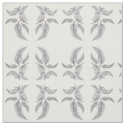 Sketched Feathers on White Background, Mirrored. Fabric