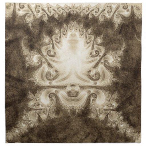 Sketched Fractal 37 Cloth Napkin