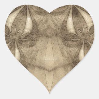 Sketched Fractal 40 Heart Sticker