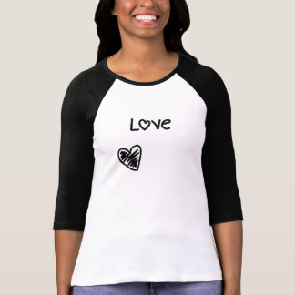 Sketched heart love | T-Shirt