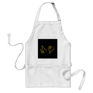 Sketched like and unlike graphic adult apron