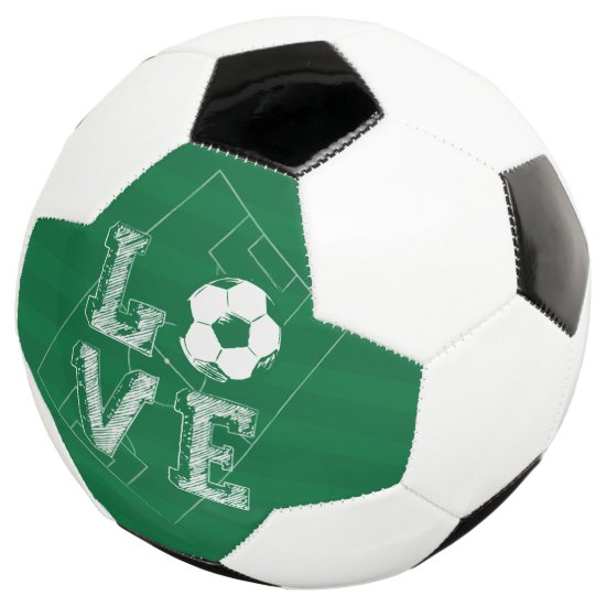 Sketched Love Soccer Soccer Ball