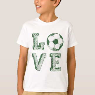 Sketched Love Soccer T-Shirt