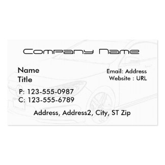 Sketched Mercedes Benz Business Cards