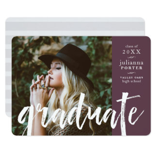 Sketched Overlay Graduation Party Invite | Plum