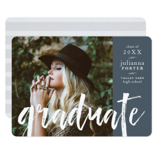 Sketched Overlay Graduation Party Invite | Slate
