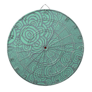 Sketched Rings Dartboard With Darts