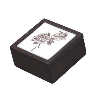 Sketched Roses Jewelry Box