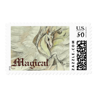 Sketched Unicorn Postage