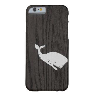 Sketched Whale On Dark Woodgrain iPhone 6 Case