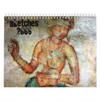 Sketches 2009 wall calendar