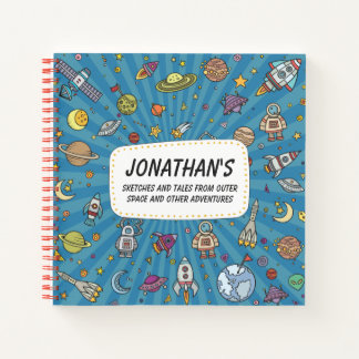 Sketches and Tales From Outer Space Notebook
