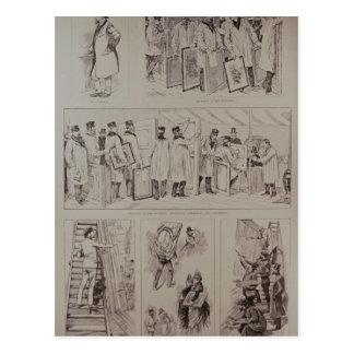 Sketches at the Paris Salon Postcard