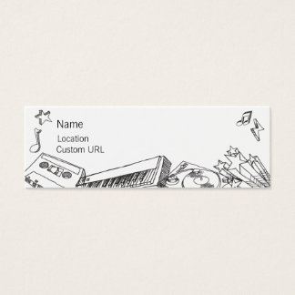 Sketches - Black and White Mini Business Card