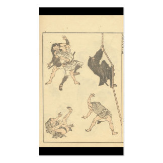 Sketches of Japanese Martial arts, Ninja c. 1800's Business Card Template
