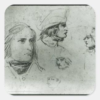 Sketches of Napoleon Bonaparte, 1797 Square Sticker