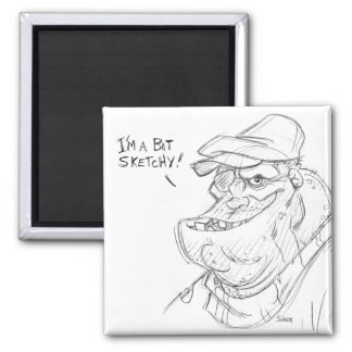 Sketchy 2 Inch Square Magnet
