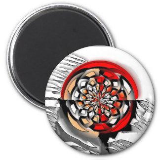 Sketchy art 2 inch round magnet