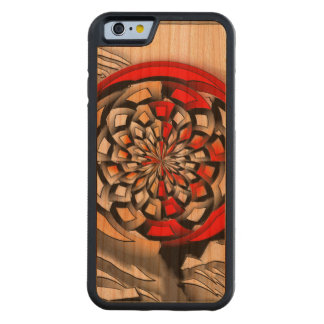 Sketchy art carved cherry iPhone 6 bumper case
