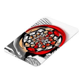 Sketchy art rectangular photo magnet