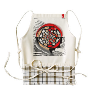Sketchy art zazzle HEART apron