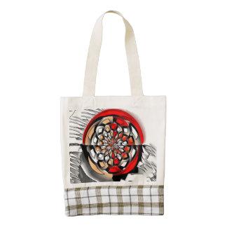 Sketchy art zazzle HEART tote bag