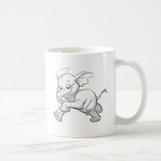 Sketchy Baby Elephant Coffee Mug