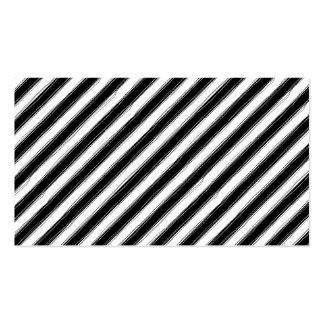 Sketchy Black & White Stripe Business Cards