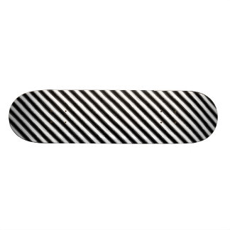 Sketchy Black & White Stripe Skateboard Deck