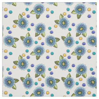 Sketchy Blue Flower Fabric