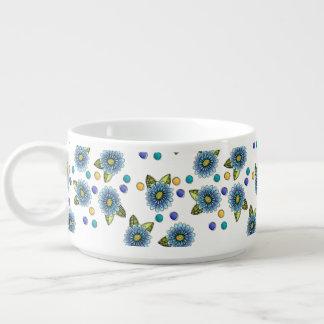 Sketchy Blue Flowers Bowl