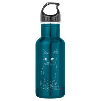 Sketchy Boonie Cat Water Bottle